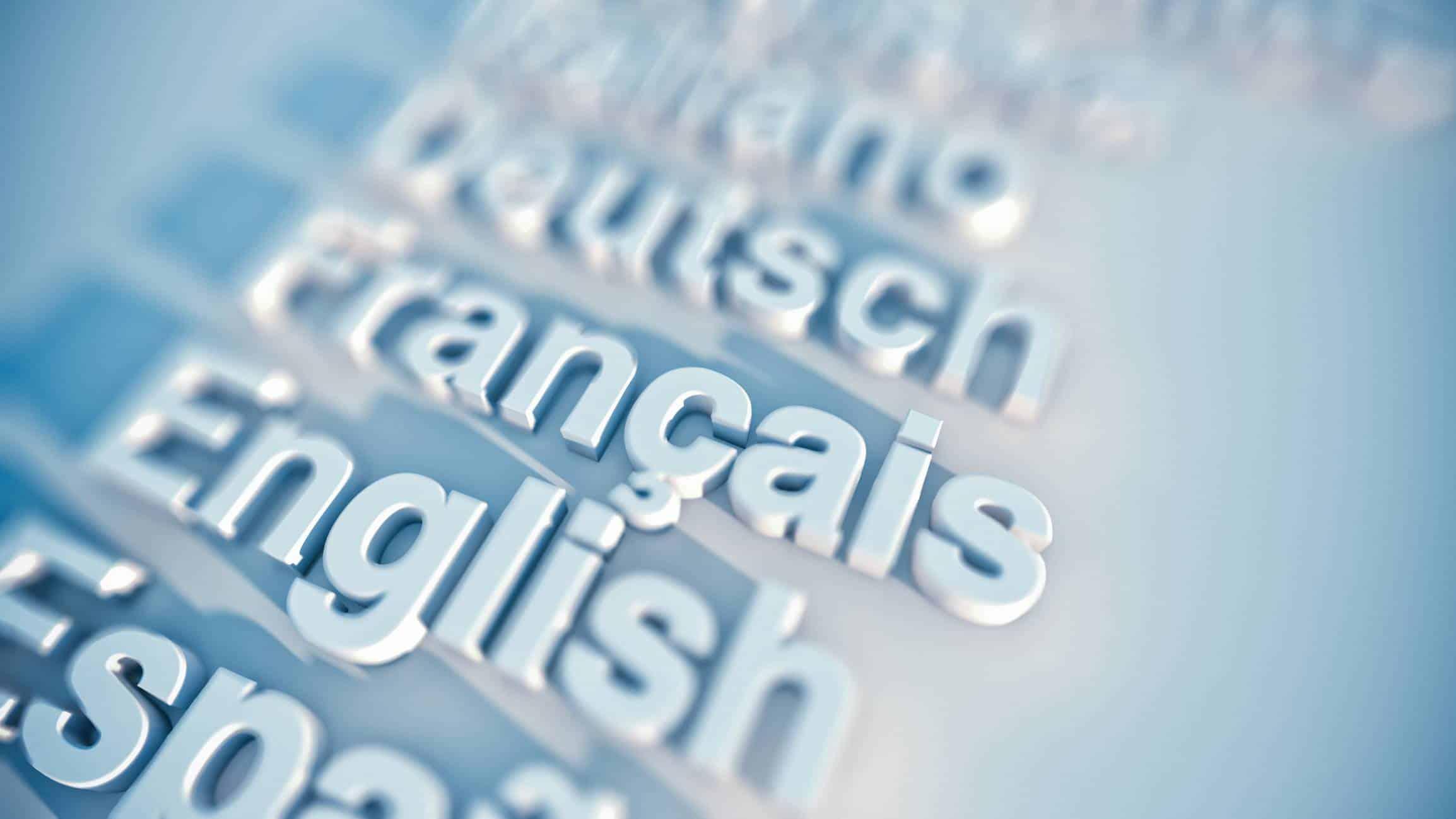 contenu dans plusieurs langues